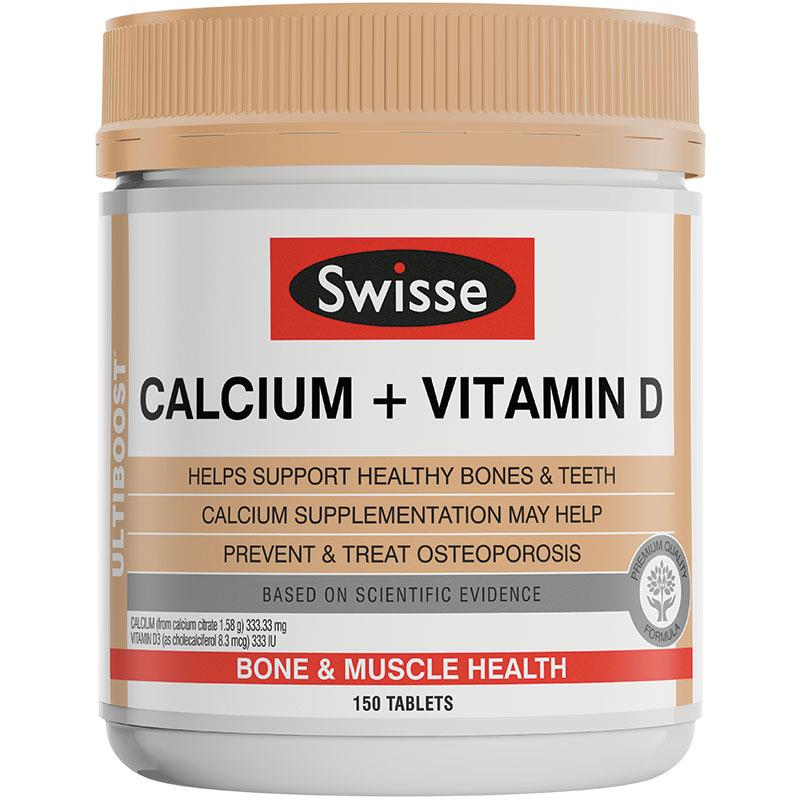 Swisse Ultiboost Calcium + Vitamin D 150 Tablets